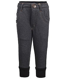 Little Kangaroos Jeans With Ribbed Waist - Grey