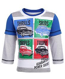 Babyhug Full Sleeves T-Shirt Multi Print - Blue