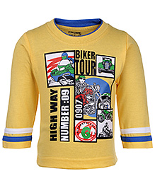 Babyhug Full Sleeves T-Shirt - Biker Tour Print
