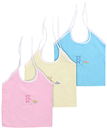 Babyhug Slip Singlet Tie Up Sleeves - Set of 3