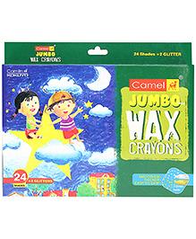 Camel Jumbo Wax Crayons - 24 Shades