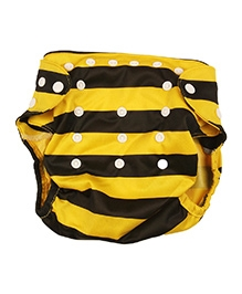 BumChum Diaper Cover With Snapon Insert - Busy Bee