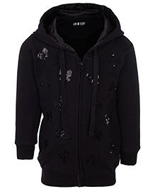 Gini & Jony Full Sleeves Hooded Jacket - Sequin Work