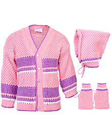 Babyhug Winter Wear Set - Purple