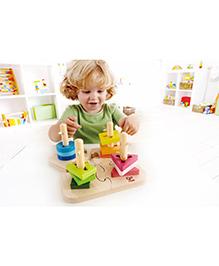 Hape Wooden Creative Peg Puzzle - Multi Colour