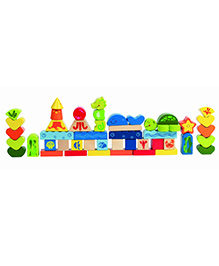 Hape Wooden Under the Sea Blocks - Multi Colour