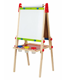 Hape Wooden All In 1 Easel Board With Paper Roll