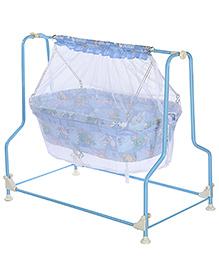 Infanto Cocoon Cradle Blue - Animal Print