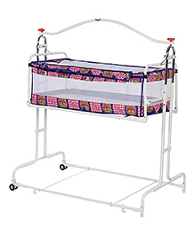 Infanto Compact Cradle Deluxe Printed - Blue And Pink
