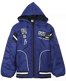 Babyhug Full Sleeve Hooded Jacket - Air Force Print