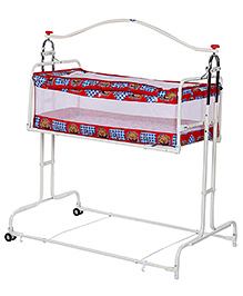 Infanto Compact Cradle Deluxe Printed - Red