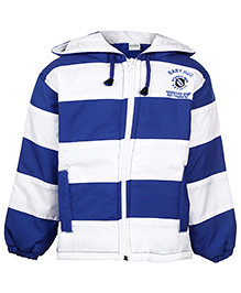 Babyhug Full Sleeve Hooded Jacket - Stripes