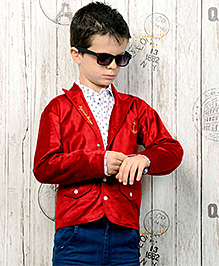 Active Kids Wear Shirt And Jeans With Jacket - Red