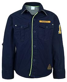 FS Mini Klub Full Sleeves Shirt - Navy Blue - 4 Years