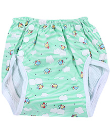 Fab N Funky Reusable Cloth Nappy - Airplane Print