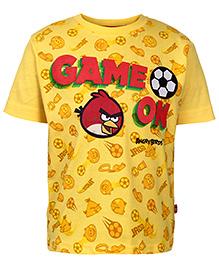 Angry Birds Half Sleeves T-Shirt Yellow - Game On Print