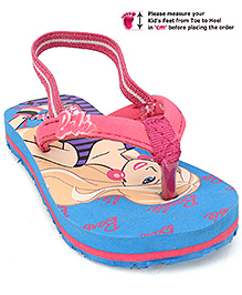 Barbie Flip Flops - Blue And Pink