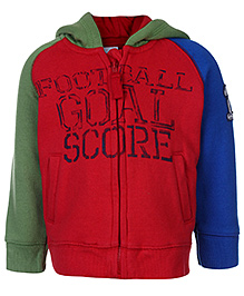 FS Mini Klub Full Sleeves Hooded Sweatshirt - Red