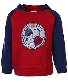 FS Mini Klub Full Sleeves Hooded Sweatshirt - Red - 12 Months