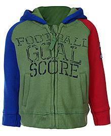 FS Mini Klub Full Sleeves Hooded Sweatshirt - Green
