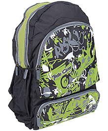 La Plazeite Backpack Green Abstract Print - Height 43 cm