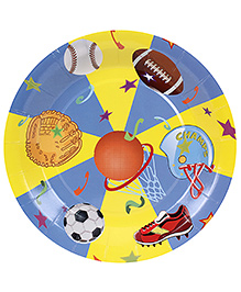 Birthdays & Parties Paper Plates Sports Theme - 10 Pieces