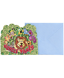 Birthdays & Parties Invitation Cards With Envelope - 10 Pieces
