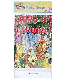 Birthdays & Parties Table Cover Jungle Theme - Multi Colour
