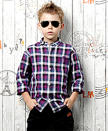 Active Kids Wear Shirt And Pant - Purple And Grey