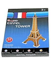 Adraxx Beginners Educational 3D Board Eiffel Tower Modeling Kit - 20 Pieces
