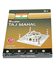 Adraxx Beginners Educational 3D Board Taj Mahal Modeling Kit - 39 Pieces