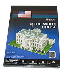 Adraxx Junior 3D Board Washington White House Modeling Kit - 65 Pieces