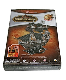 Adraxx Advanced 3D Board Pirate Ten Queen Annes Revenge Ship Modeling Kit