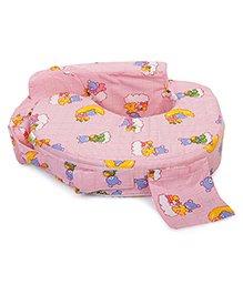 Babyhug Teddy On Clouds Feeding Pillow - Pink