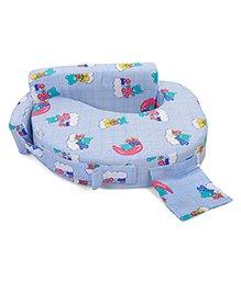 Babyhug Teddy On Clouds Feeding Pillow - Blue