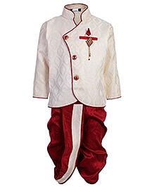 Babyhug Indo Western Dhoti Kurta Suit - Diamond Brooch