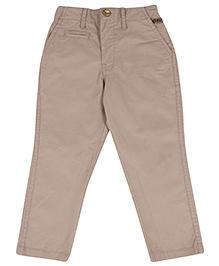 Gini & Jony Full Length Fixed Waist Trouser - Light Grey