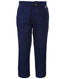 Gini & Jony Full Length Fixed Waist Trouser - Navy
