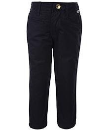 Gini & Jony Full Length Fixed Waist Trouser - Black