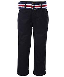 Gini & Jony Fixed Waist Trouser With Belt - Black