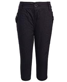 Babyhug Full Length Woven Trouser - Black