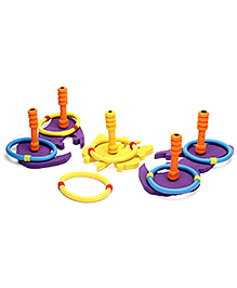 Safsof Jigsaw Ring Toss Butterfly Game - Purple And Yellow