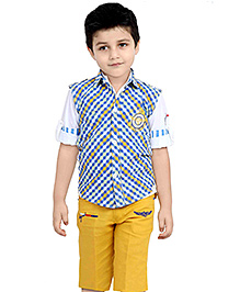 Active Kids Wear Shirt And Capri With Jacket - AK Logo Embroidery