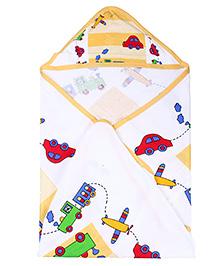 Babyhug Hooded Wrapper - Vehicle Print