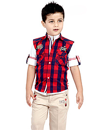 Active Kids Wear Shirt And Capri With Jacket - Two Front Pockets