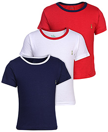 Babyhug Solid Color Sleeves T-Shirt - Set of 3