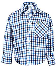 Babyhug Full Sleeves Blue Casual Shirt - Checks