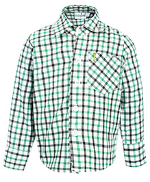 Babyhug Full Sleeves Green Casual Shirt - Checks