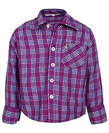 Babyhug Full Sleeves Shirt - Check Pattern