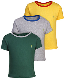 Babyhug Solid T-Shirt Short Sleeves - Set of 3